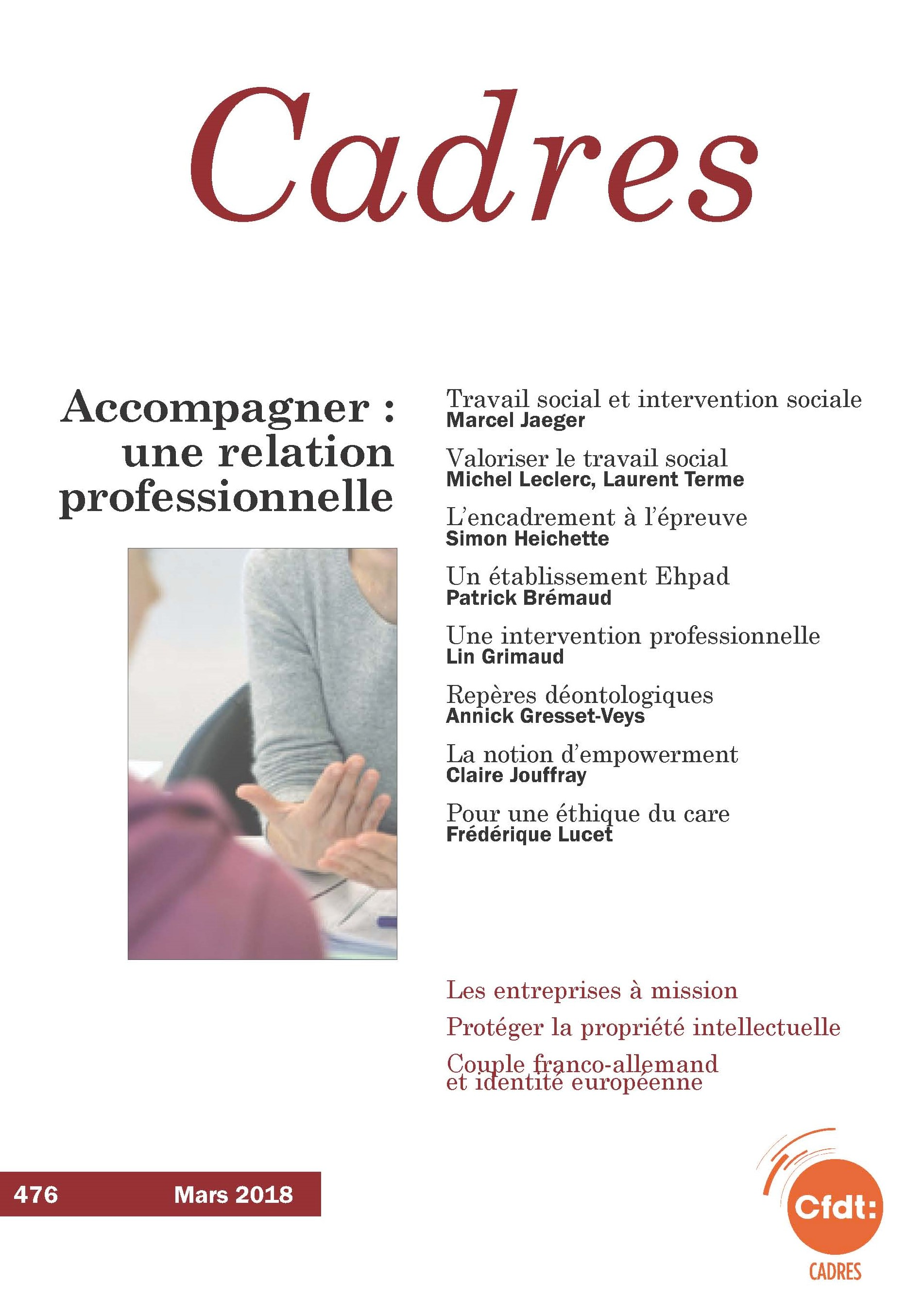 Accompagner, une relation professionnelle